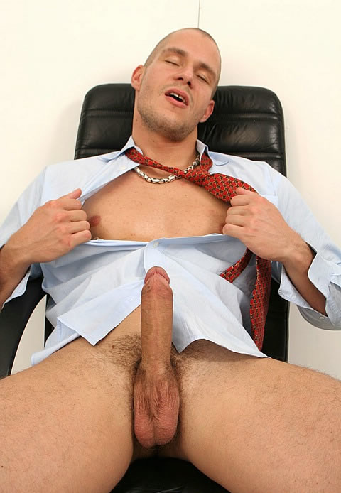 Naked guys at the office